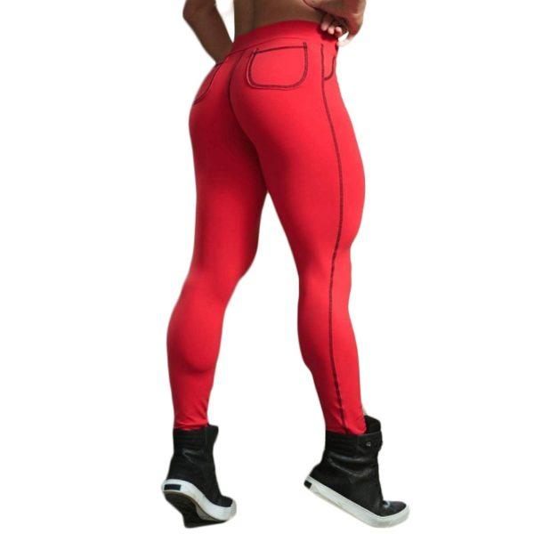 Dámské stylové fitness push-up legíny s vysokým pasem