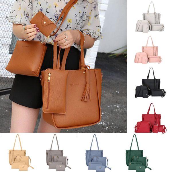 Luxusní čtyřdílný kabelkový set v různých barevných variantách