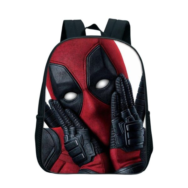 Školní batoh s několika motivy Deadpoola