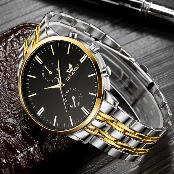Stylové pánské hodinky z nerezové oceli