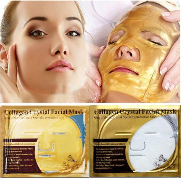 Zlatá maska na obličej