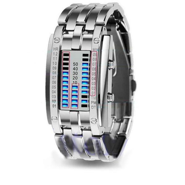 Vodotěsné pánské binární hodinky