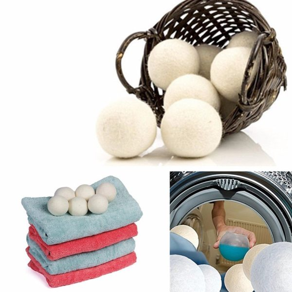 Vlněné koule na praní a sušení prádla