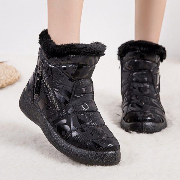 Nepromokavé kotníkové boty na zip