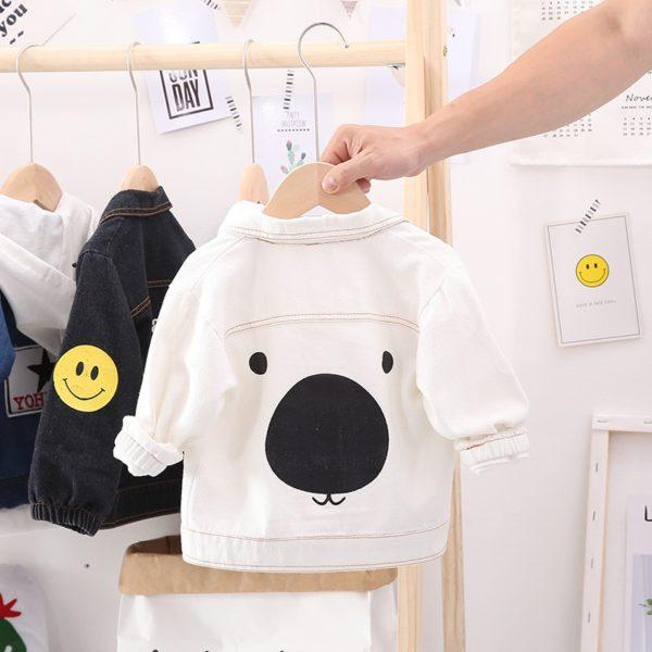 Džínová bunda s medvídkem pro holky i kluky