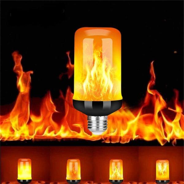 LED kreativní žárovky simulující plamen
