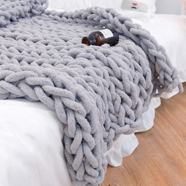 Teplá pletená deka