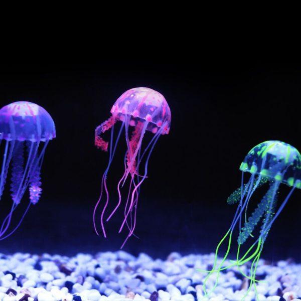 Světélkující umělé medůzy do akvária - dekorace