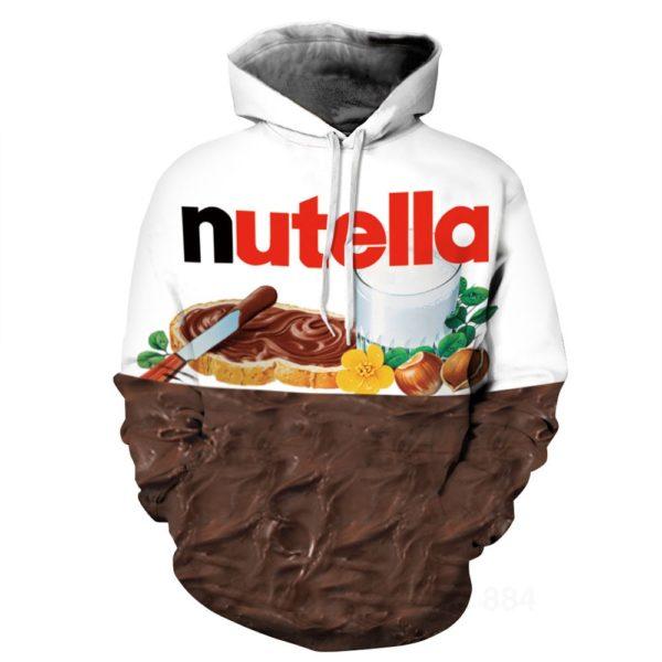 3D pánská mikina s oblíbeným potiskem Nutella