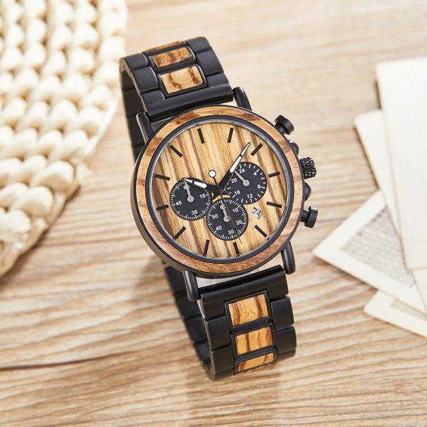 Módní pánské dřevěné hodinky Lucas