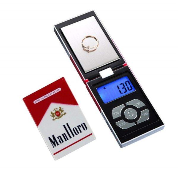 Digitální mini váha ve stylu krabičky od cigeret