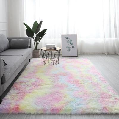 Měkký duhový koberec