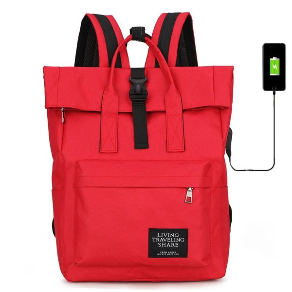 Dámská volnočasová taška přes rameno s USB nabíjecím kabelem