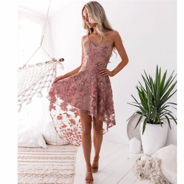 Elegantní starorůžové krajkové vintage šaty