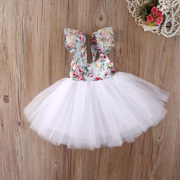 Dívčí šaty s tylovou sukýnkou
