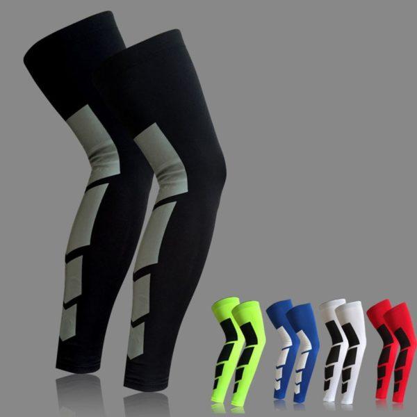 Elastické basketbalové návleky na nohy s funkcí komprese