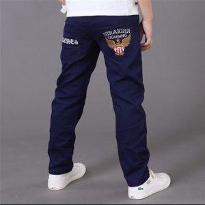 Jarní/Podzimní chlapecké ležérní kapsové kalhoty