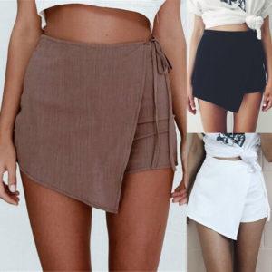 Krátká zavinovací šortková sukně