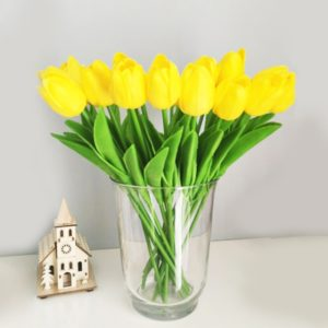 Umělé dekorační tulipány do bytu