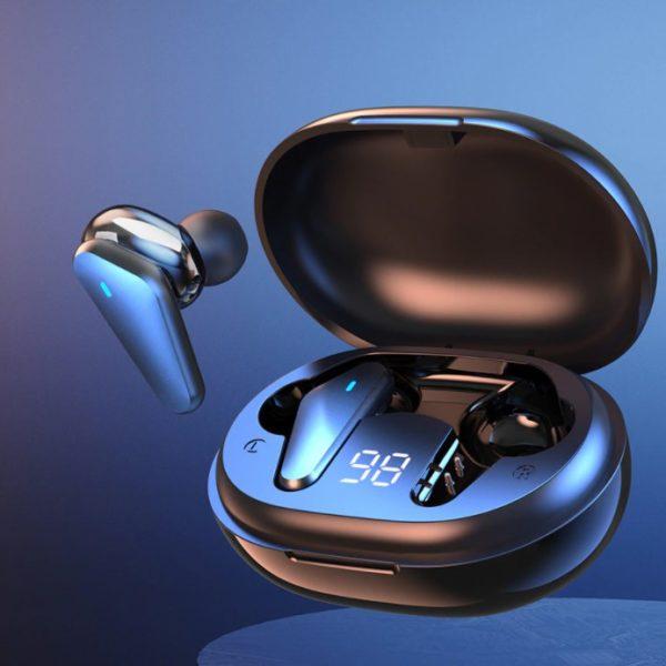 Elegantní bezdrátová sluchátka 9D s dobíjecím pouzdrem