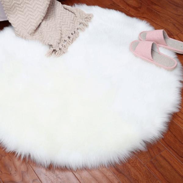 Kulatý chlupatý koberec Aydin