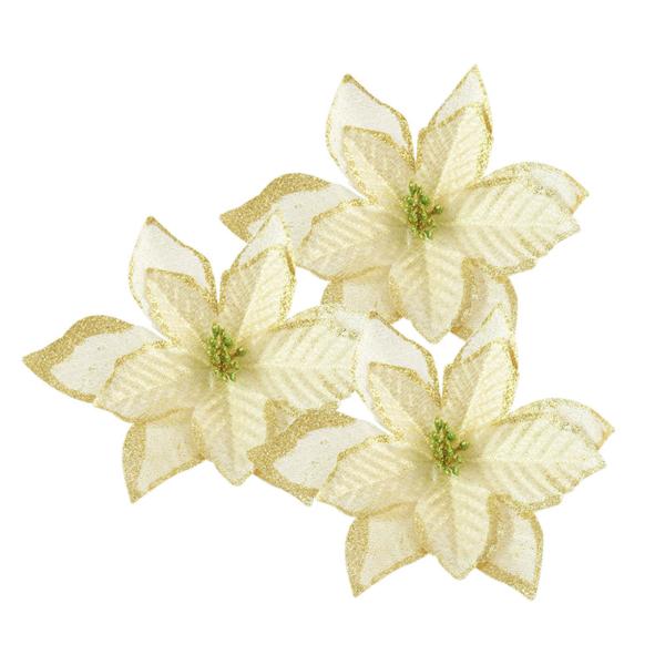Vánoční ozdoby na stromeček - květiny