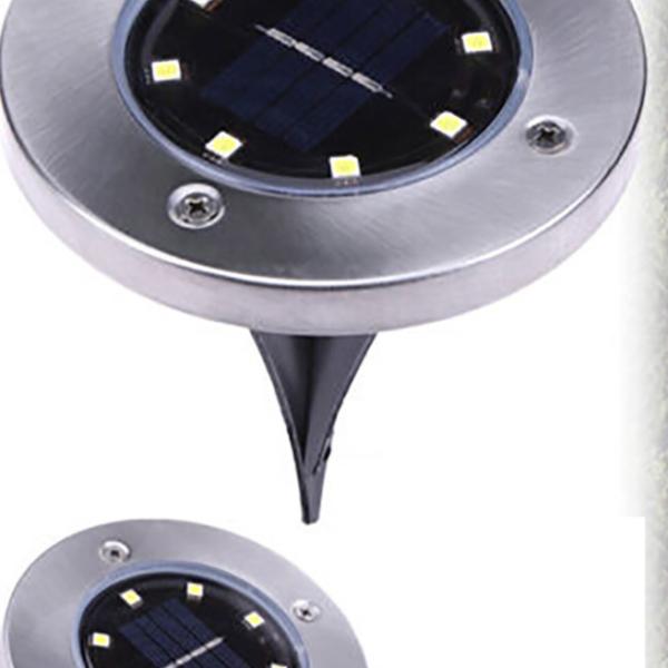 Solární napájené pozemní LED světlo - zahradní