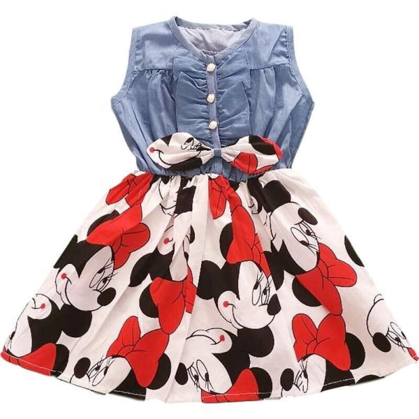 Roztomilé dívčí šaty Minnie s mašličkou