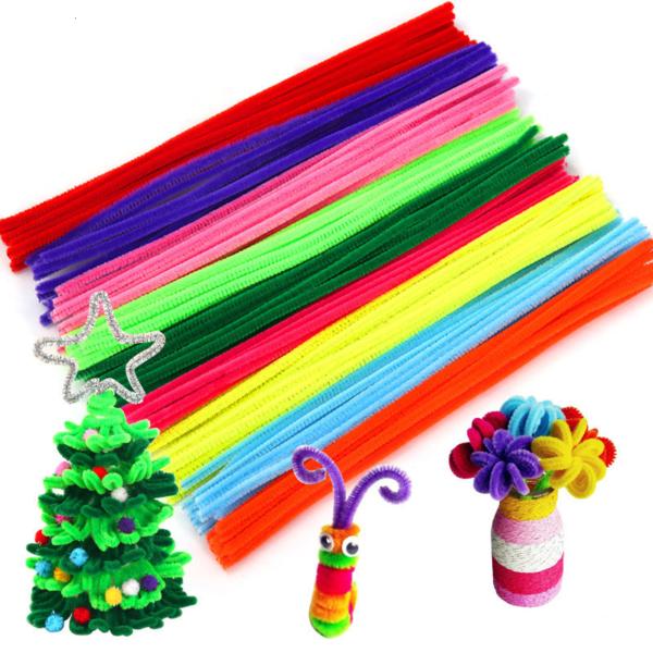 Vícebarevné kreativní plyšové tyčky na vytváření
