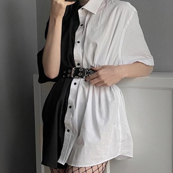 Dámská neformální volná košile s polovičními rukávy