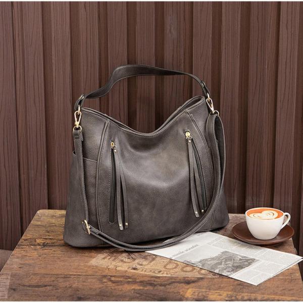 Luxusní dámská koženková kabelka ve vintage stylu - kolekce 2021