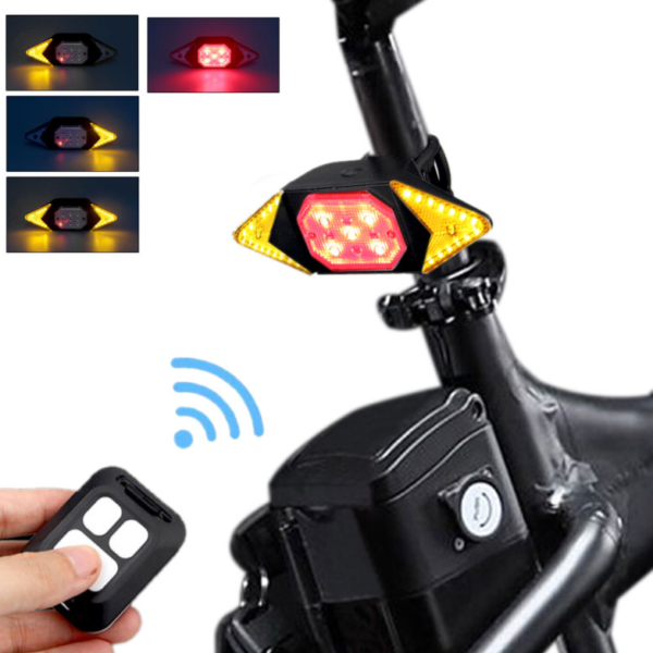 Cyklistické zadní LED světlo na dálkové ovládání