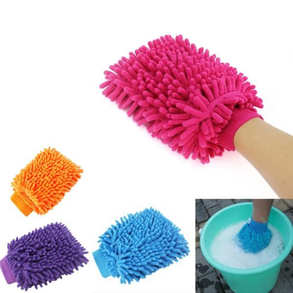 Univerzální čistící rukavice pro umytí bez škrábanců