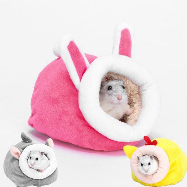 Roztomilé plyšové hnízdečko pro křečka