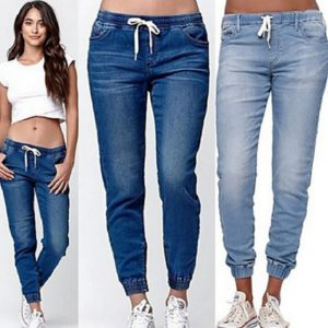 Dámské lehké kalhoty s nízkým pasem