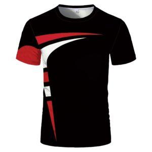 Sportovní pohodlné unisex tričko s krátkým rukávem