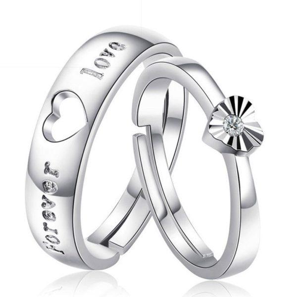 Prsten pro páry se srdcem