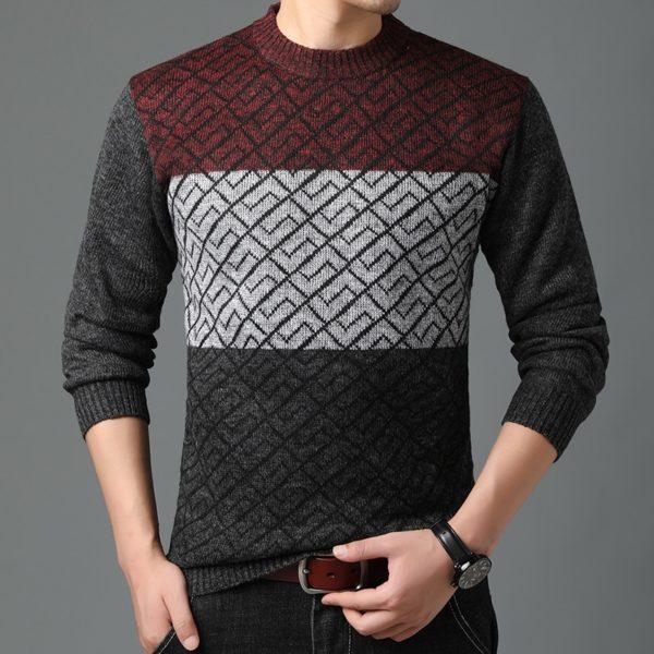 Pánský zimní svetr se vzorem David