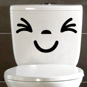 Vtipné samolepky na toaletu