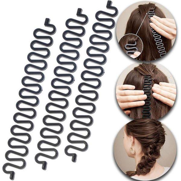 Kombinované sponky do vlasů na copánek