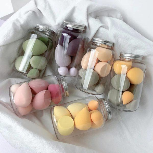 7 ks houbiček na make up - různé velikosti