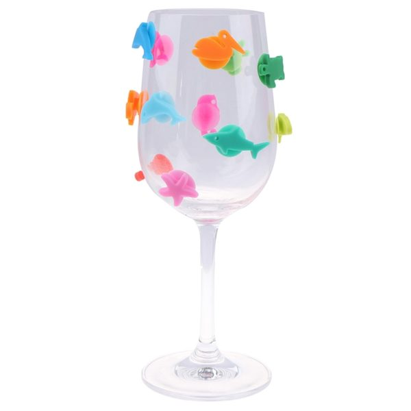 Barevné rozlišovače skleniček