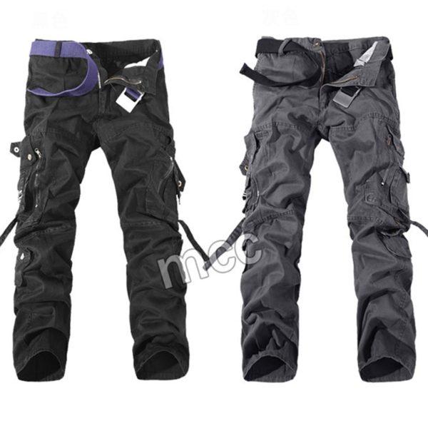 Pánské stylové kalhoty s kapsami Military
