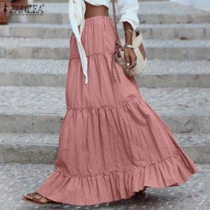Dámská dlouhá jarní sukně
