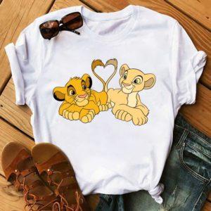 Neformální roztomilé dámské tričko s motivem Lvího krále