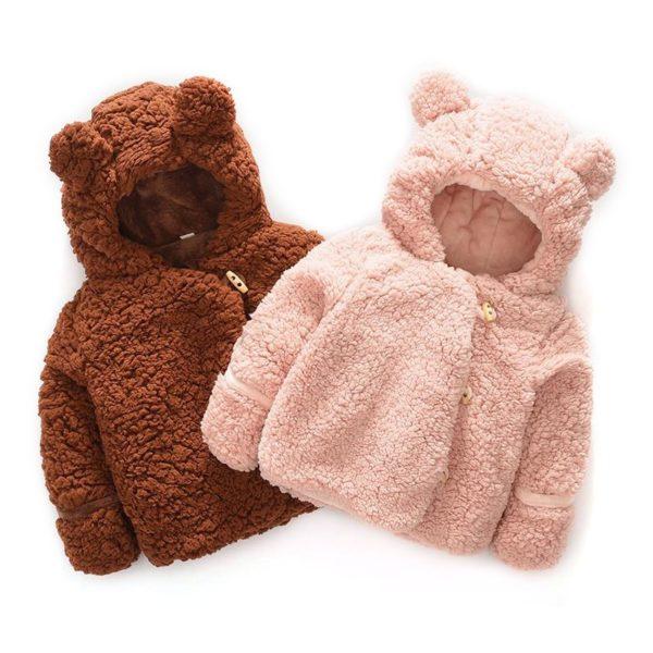Dívčí teplá bundička Beary s oušky - dvě varianty