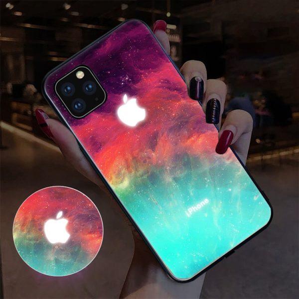 Blikající nárazuvzdorný kryt na Apple iPhone - galaxie