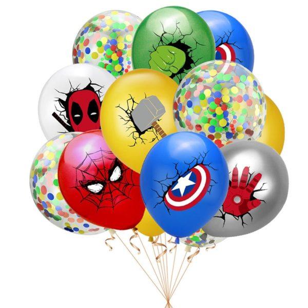 Mix 10 ks balónků se superhrdiny Marvel
