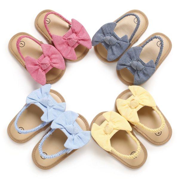 Dětské letní sandálky s mašlí