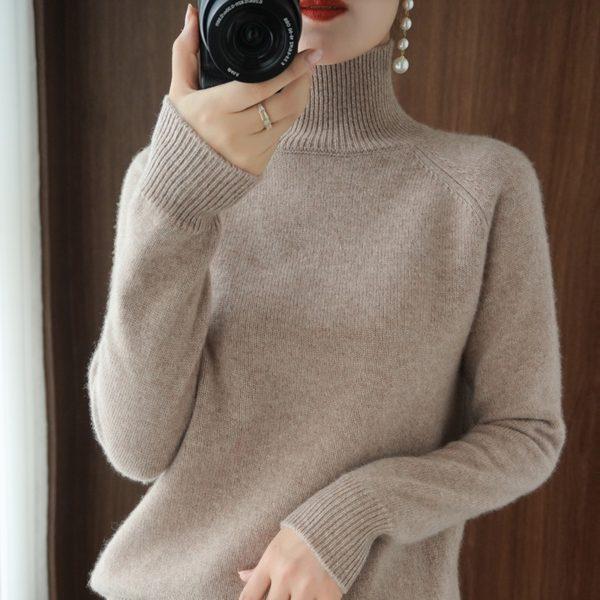 Dámský moderní kašmírový svetr Mina